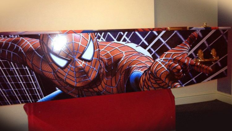 Spiderman Coffin – Side View