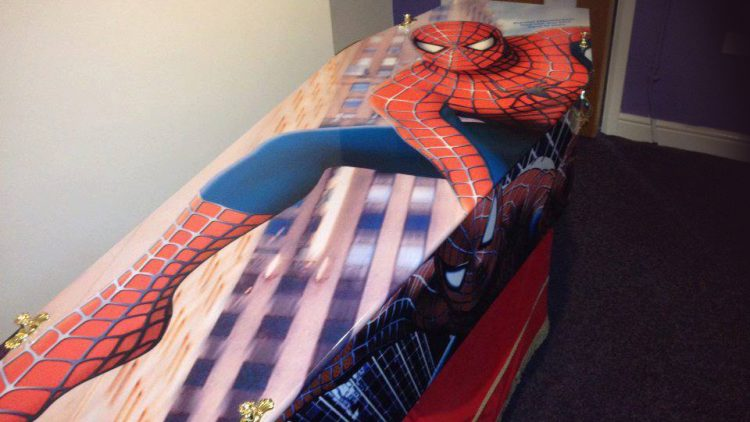 Spiderman Coffin – Top View